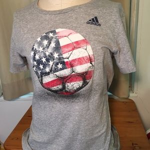 Adidas Basketball Women's USA Sport Gray short